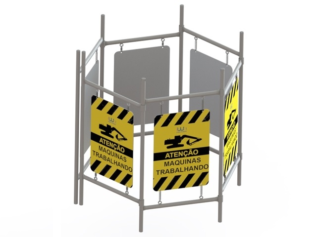 Placa Cavalete Calçada Modular Articulável